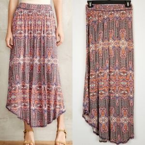 Anthropologie Maxi Skirt Small w/ Pockets Rayon